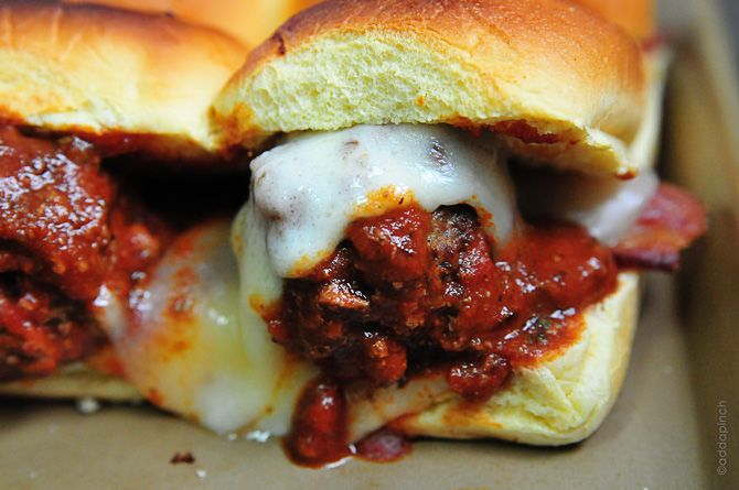 Meatball Sliders Recipe. Super tasty and filling! Used 2lb beef and ...