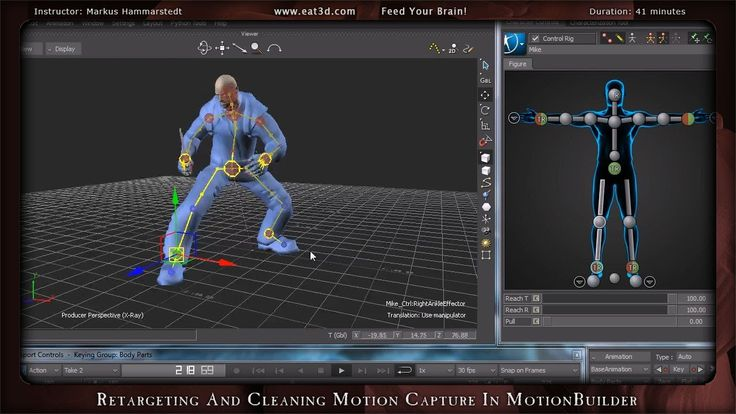 Motion Builder - MoCap Cleanup and Re-targeting