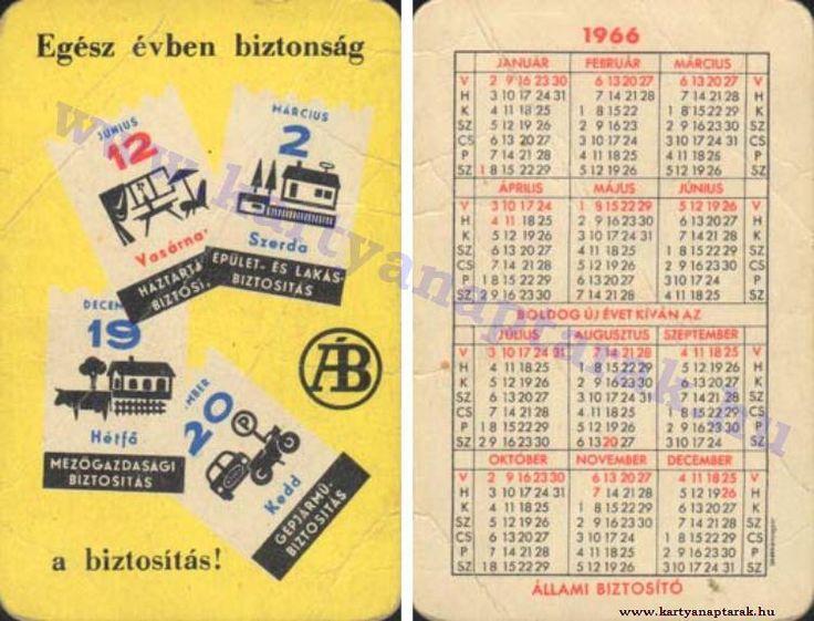 1966 - 1966_0099 - Régi magyar kártyanaptárak