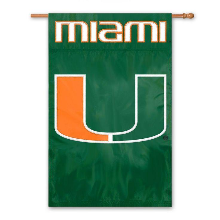 Miami Hurricanes Banner Flag, Multicolor