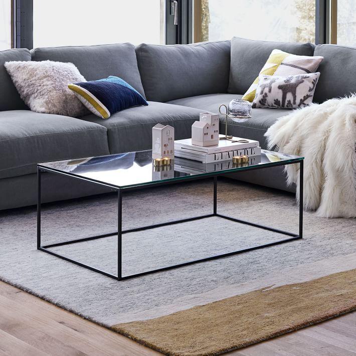 Streamline Coffee Table Glass Metal Coffee Table Glass Table Glass Coffee Table