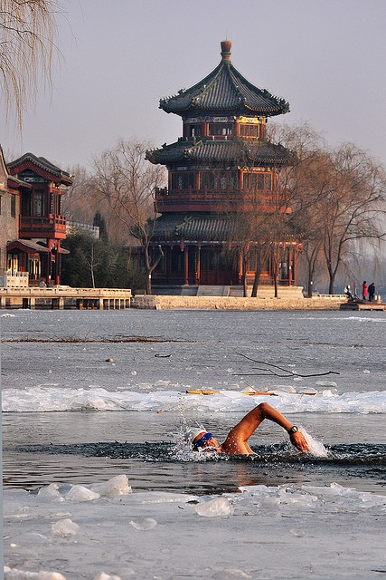 Ice River Swimming, Bejing, China. @Anusuya Mitra- try it when you go there :P