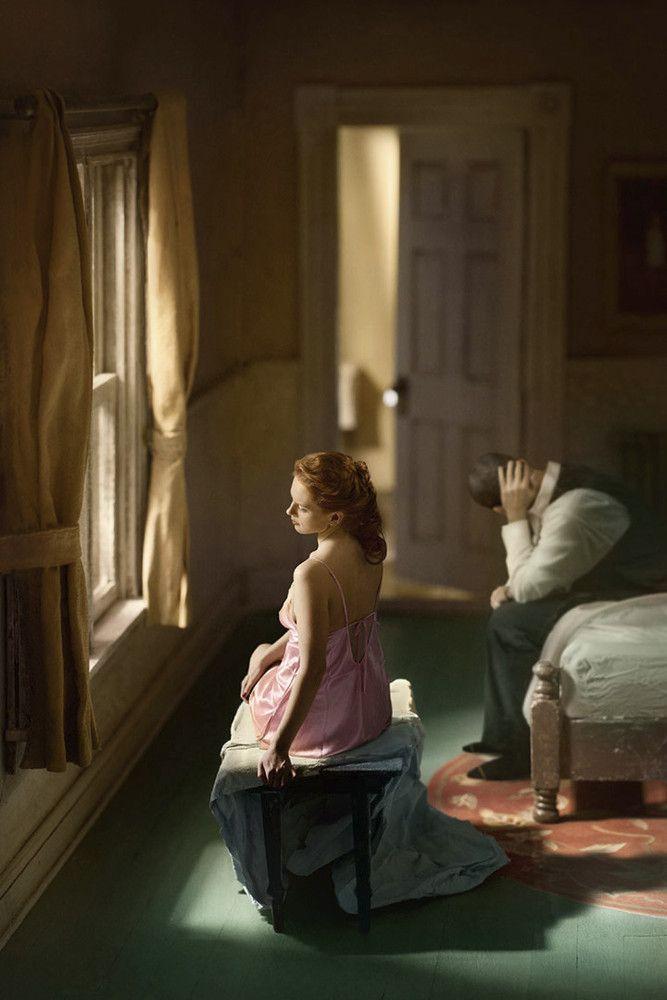 "Edward Hopper, ""Pink bedroom (window seat)"" remake.  Photographer: Richard Tuschman"