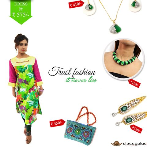 Trust Fashion , it never lies. Color of the week is - Green. #Classyplus #Woman #Fashion #Shopping