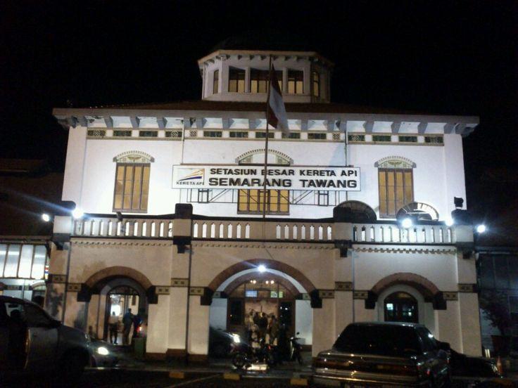 Stasiun Semarang Tawang di Semarang, Jawa Tengah