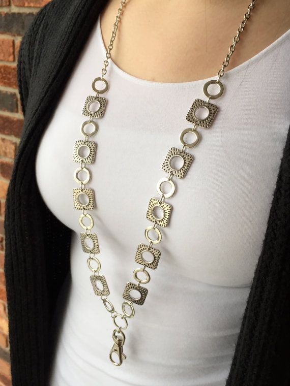 Hip to Be Square Lanyard Necklace  Beaded Lanyard by MyMinderella