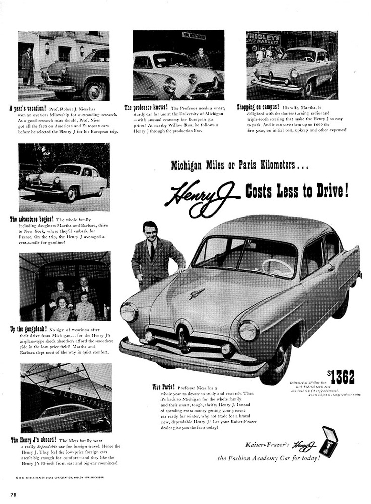 148 best Hudson/Kaiser & Frazer ....car brochures images on ...