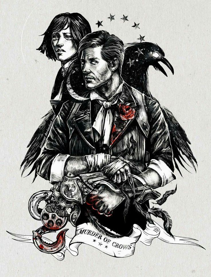 Lovely Murder of Crows fan art by @TanyaAnor at (link: http://justanor.deviantart.com/) justanor.deviantart.com