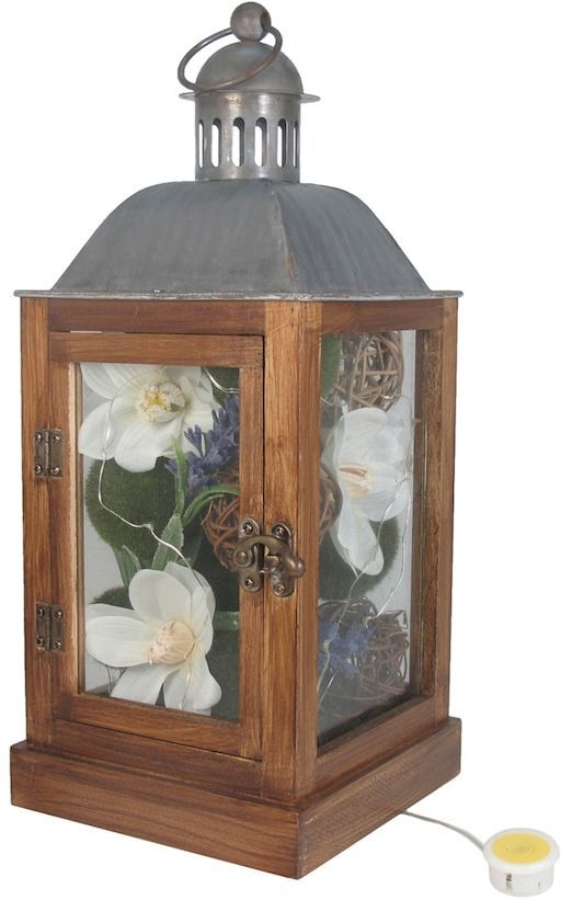 SONOMA Goods for LifeTM Farmhouse Artificial Flower Light-Up Lantern Table Decor