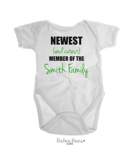 Baby Boy Clothes, Baby Girl Clothes, Funny Baby Clothes, Gender Neutral Baby, Last Name Shirt, Personalized Baby Gift, Cute Baby Clothes