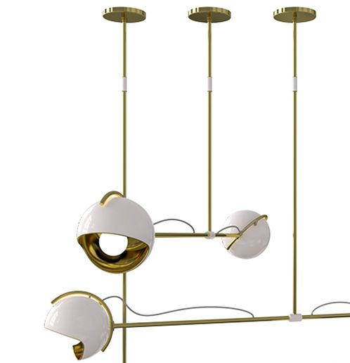 NEW PRODUCT - LAINE SUSPENSION LAMP DelightFULL's designers created Laine suspension lamp with the mid-century vibe in mind. Inspired by the iconic era that brought so much culture to the world, this set of spotlights arranged like magic is in your home, this modern ceiling light comes to redefine what mid-century lighting is all about. With its body made of brass and its shade of aluminum, it's simply poetic and extravagantly scenic. Delicate telescopic tubes with its body in gold plated…