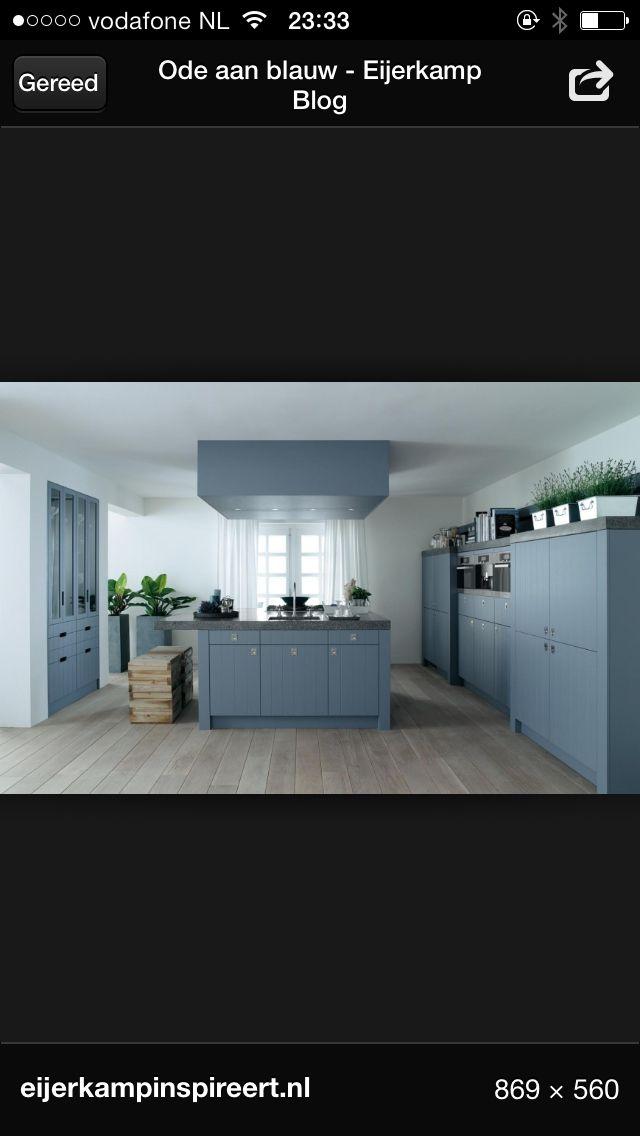 Blauwe Keuken Ikea : Eens wat anders – Mooie blauwe keuken kitchen – keuken Pinterest