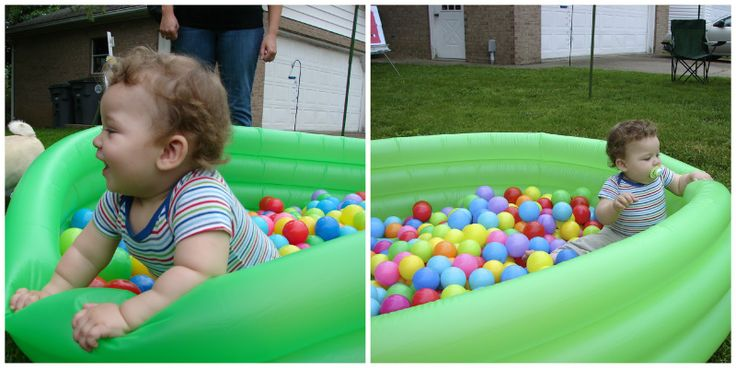 Ball pit made from a blow up swimming pool yo i m 1 pinterest