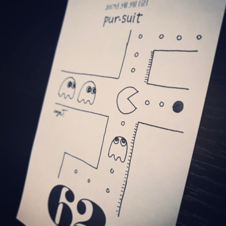 Pursuit / 20170303 - #추격 #추구 #pursuit #pursue #chase #occupation #pacman #game #8bit #simple #witty #drawing #sketch #english #word #vocabulary #pen #art #illust #illustration #design #artoftheday #drawingeveryday #alldays #dailyatom #crys #crysju