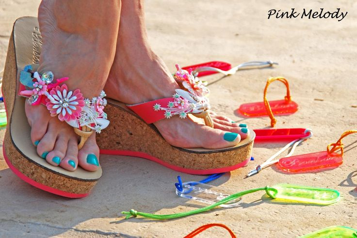 Pink Melody Wedge! Bonbon Sandals