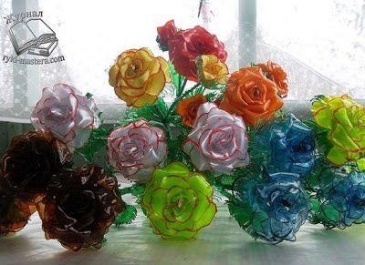 НАША СТРАНА МАСТЕРОВ: Роза из пластиковых бутылок