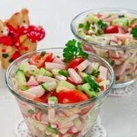 Салат с ветчиной и овощами без майонеза – рецепт с фото