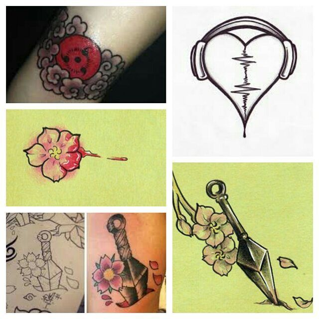 【_blossombeautiful】さんのInstagramをピンしています。 《Thinking about getting one of these as my third upcoming tattoo :3  Help me figure out which one?:3 comment away c:  #Tattoos #Interested #DontKnowWhichOne #Help #Comment #DecisionsDecisions #Hearts #Flowers #CherryBlossoms #Naruto #Anime》