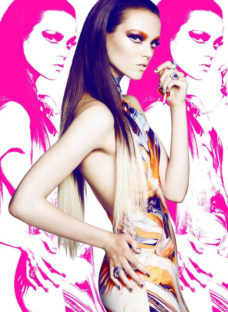 Jenna Earle & Amanda N Don Vivid Beauty Looks for Flare September 2012 by Chris Nicholls