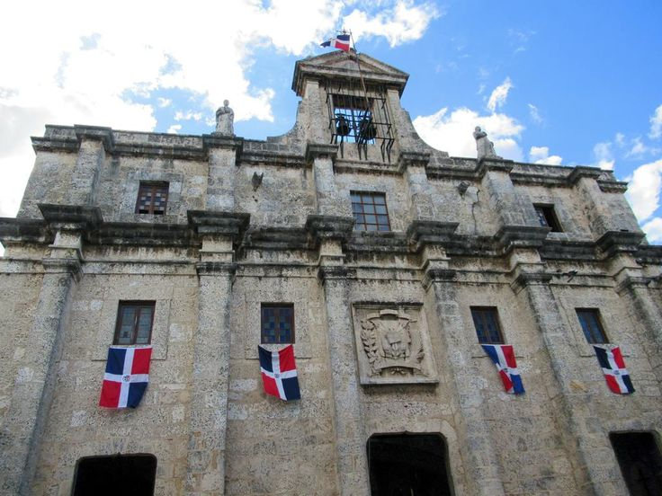 The former Jesuit convent (1714-1745) in Santo Domingo, Dominican Republic, now serves as the Panteón Nacional dedicated to national heroes.