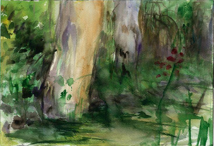 Riverside, 2016 Watercolour on paper