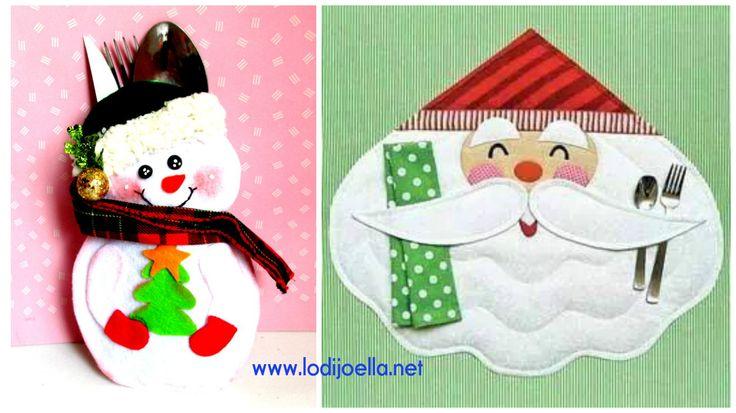 Haz bonitos porta cubiertos navideños en fieltro paso a paso