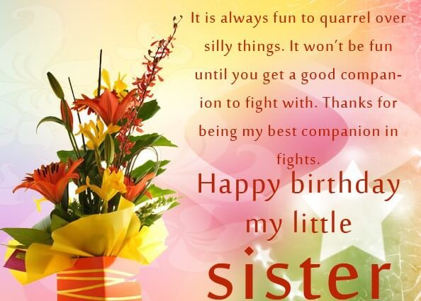 Fantastic 55 Best Birthday Quotes For Sister With Images Happy Birthday Funny Birthday Cards Online Fluifree Goldxyz
