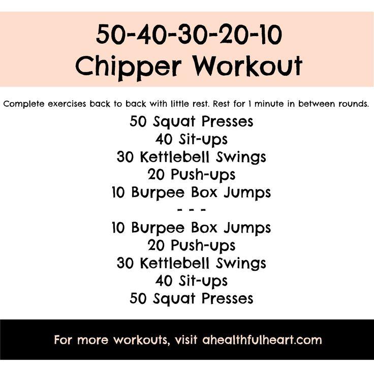 Sweat Wow Killer Kettlebell Workout: 50-40-30-20-10 Chipper Workout