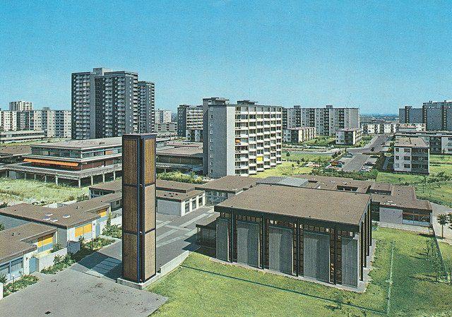 Berlin-Buckow (hier→Gropiusstadt),  Johannisthaler Chaussee (heute: Martin-Luther-King-Weg), etwa 1970
