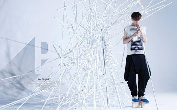 Pawel Gralevitz for And Men by Agata Mendziuk  Styling: AsiaWysoczyńska&EwaCylwik | DIFERENTE Fashion Services  Trousers: AsiaWysoczyńska for FOORIAT Top&Shoes: Mrzygłód