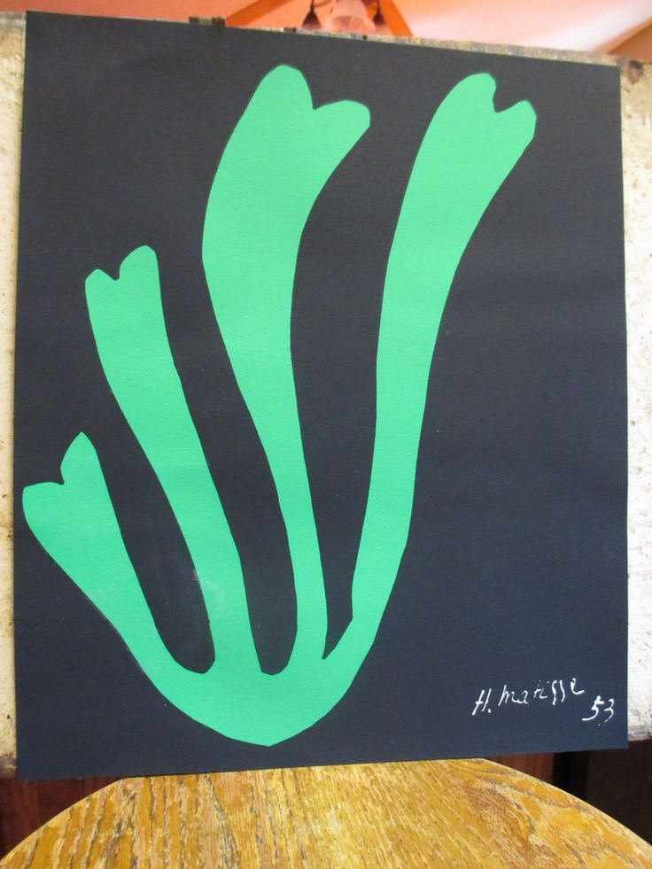 """Henri Matisse Print """"Algue Verte"""" Silkscreen Print 1953"""
