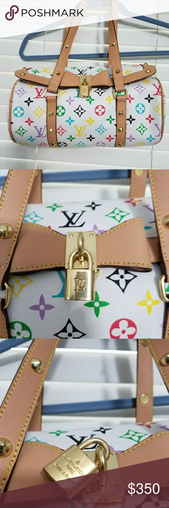REALLY NICE MULTI COLOR MONOGRAM A fine example of the way a beautiful handbag should look. Light signs of use on straps not too significant or noticeable. Bright clean inside and out. Light scratching on the lock Over all this bag looks great. Please ask any questions about the bag. THE ANSWER IS NO! Bags Shoulder Bags