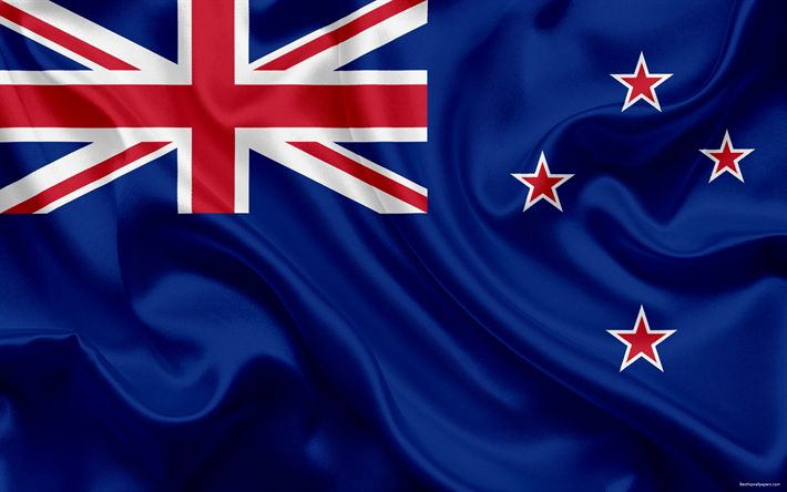 Download wallpapers Flag of New Zealand, 4k, national flag, symbols, New Zealand, silk