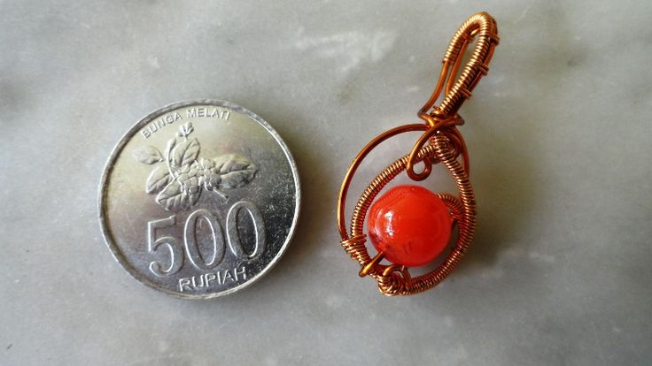 #wirejewelry #copperwire #beads #pendant #handmade