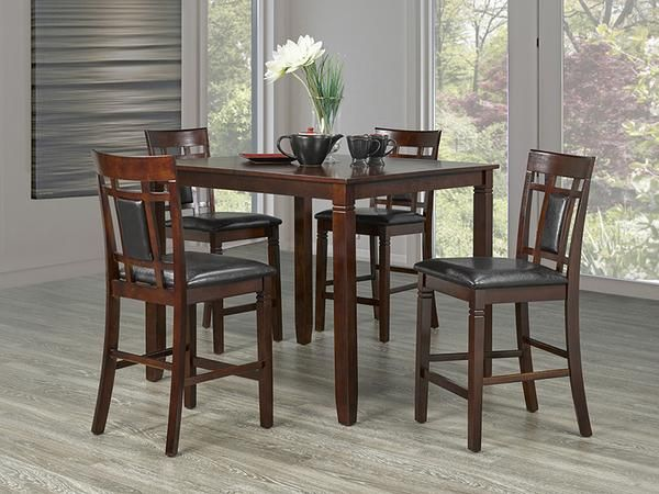 Aliya Pub Table Set  #www.craftmansfurniture.ca #furniture #furnituredesign #interiordesign #interiors #furnishing #couches #sofas #bedroomset #diningtable #rugs #coffeetables #canvas #endtables #accessories #accentchairs #canadianmade #solidwood #barstools #mirrors #heartlandtowncentre #handmade #mississauga #contemporaryart #bedroomdecor #homedecor #modernfurniture