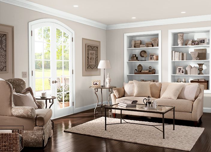 Behr Paint ASHEN TAN(N220 2), Greige, Neutral Paint, Contemporary · Living  Room ColorsLiving ...