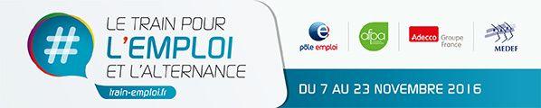 SNCF lance par l'intermédiaire de sa filiale Trains Expo Evénements le Train pour l'Emploi et l'Alternance, accompagné par Pôle Emploi, l'AFPA, le MEDEF et ADECCO. Lancement du Train pour l'Emploi et l'Alternance Lancement du Train pour l'Emploi et l'Alternance...