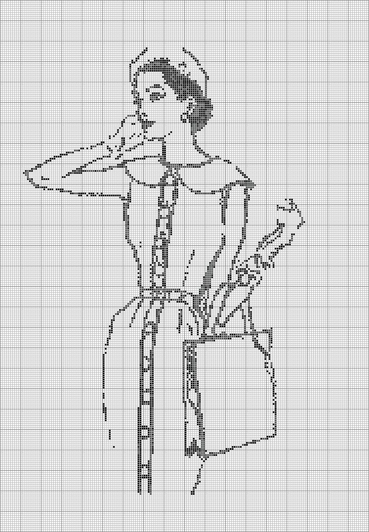 free cross stitch fashionista sketch