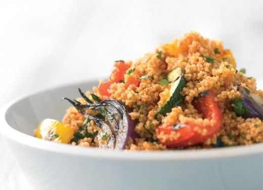 Grilled Vegetable Cous Cous Salad.