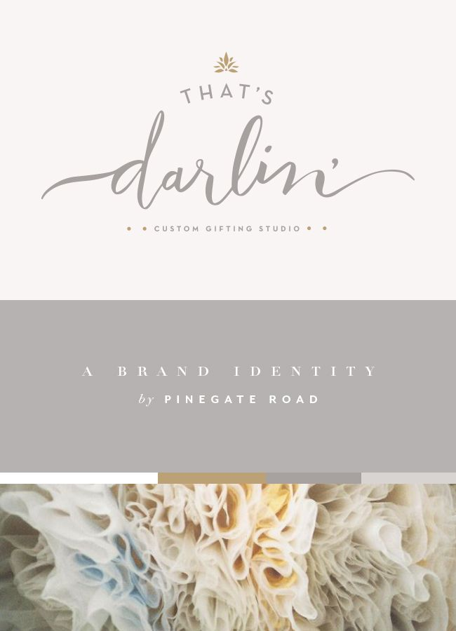 That's Darlin' Brand Identity | PINEGATE ROAD Are you looking for a design studio to help propel your business to the next level? Pinegate Road specializes in helping small and medium creative businesses live out their values and put their best foot forward. | branding, brand design, lettering, hand lettering, identity, identity design, brand board, brand buildout