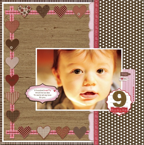 Love: Scrapbook Ideas, Crafts Scrapbook, Heart Border, Fun Ideas, Scrapbook Layout, Love Heart, Scrapbook Baby, Photo, Pink Colors Lol