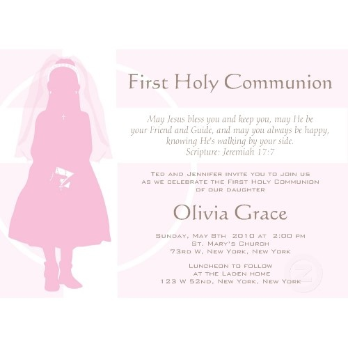 communion invite - but w 2 silhouettes