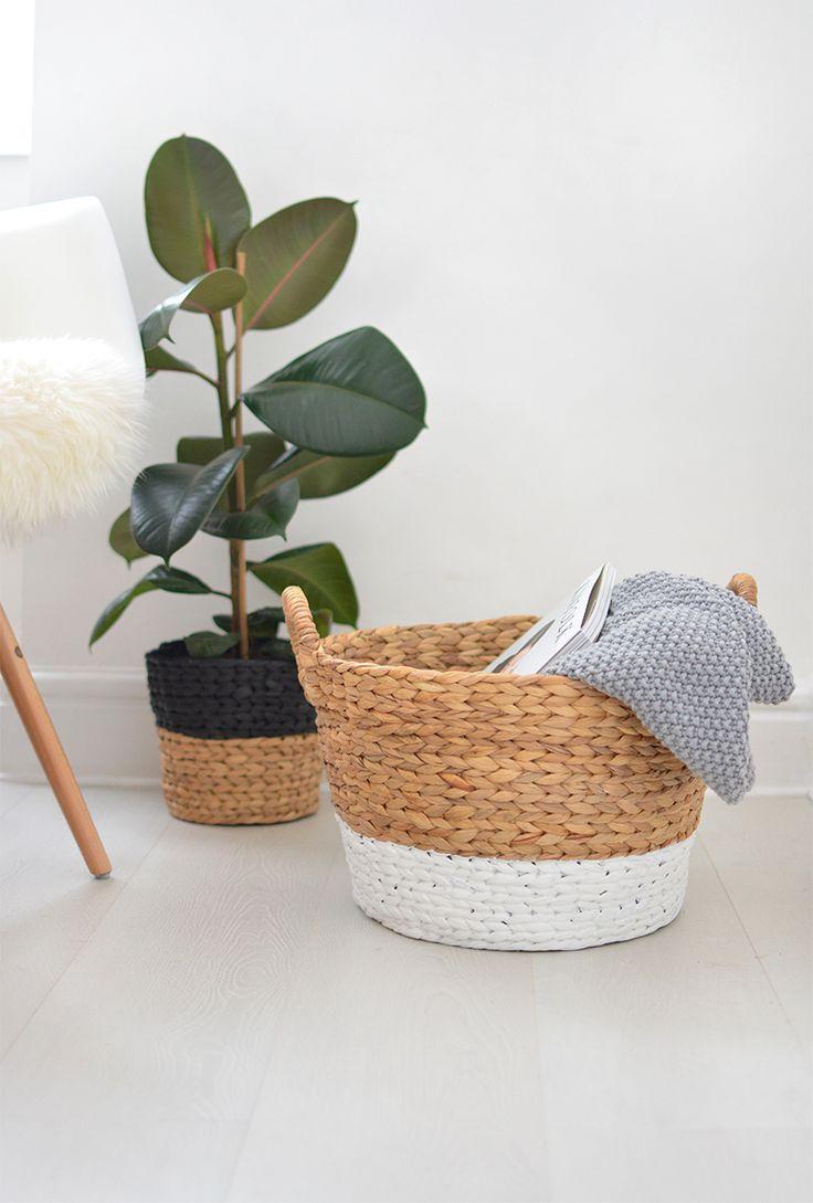 DIY | painted wicker baskets