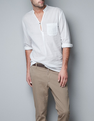 VOILE SHIRT WITH POCKET - Shirts - Man - ZARA United States