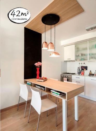 Especial departamentos chicos te presentamos un for Cocinas pequenas de departamentos