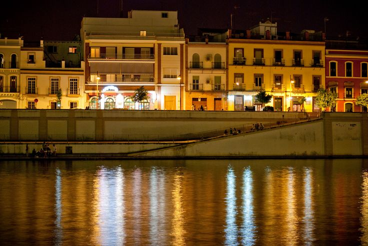 Calle Betis, #Sevilla, #Spain | #wikoftheday Want to visit #Andalucia? http://bit.ly/1qcjX4P