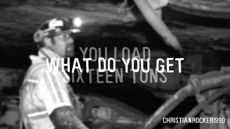 Tennessee Ernie Ford - Sixteen Tons (lyrics)