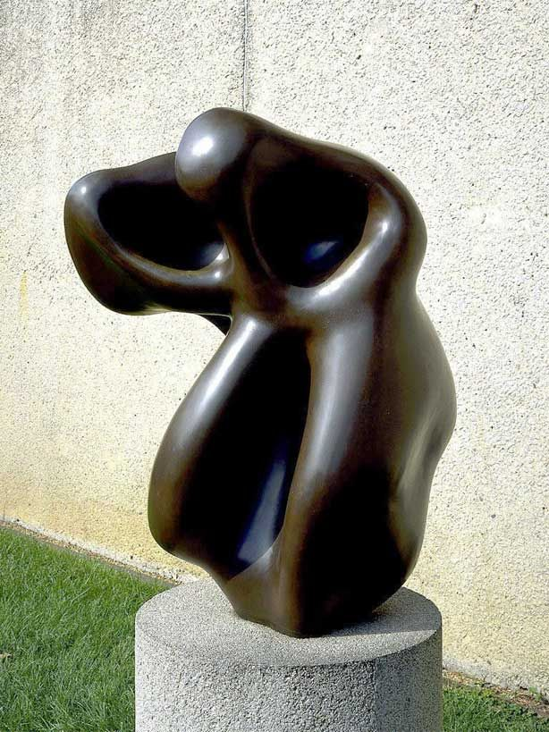 Evocation of a form: human, lunar, spectral - Jean Arp 1950