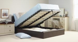 Wooden Small Double Beds With Storage Drawers