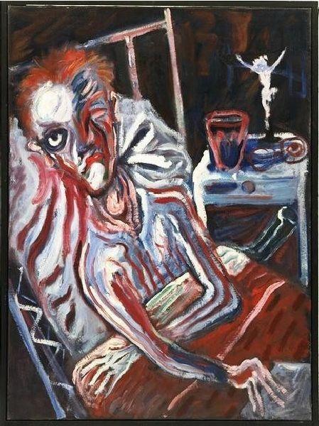 Aad de Haas, Portret van een zieke, 1954, Olieverf op doek, 115 cm x 85 cm